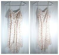 Deb White Lace Floral Dress Women's Size S