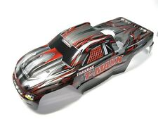 T-Maxx 3.3 BODY shell (BLACK RED & GREY w/ Decals Cover prographix 4907 Traxxas