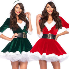 Women Christmas Fancy Party Dress Santa Claus Hoodie Cosplay Costumes New