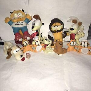Rare Vintage Garfield Plush Bundle Life In The Fast Lane Garfield & Odie & HJ's
