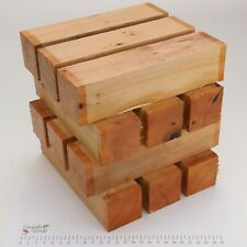 12 English Yew wood turning or carving spindle blanks.   50 x 50 x 205mm.  5199A