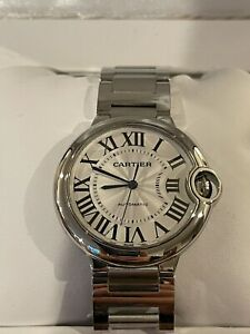 Cartier Ballon Bleu Steel 32mm Silver Dial Automatic Ladies/Womens Watch