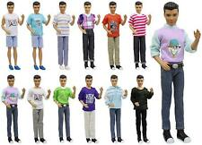 "5x Fashion Casual Wear Clothes Shirt Outfit for Barbie's Boy Friend 12"" Ken Doll"