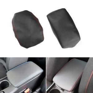 For Peugeot 308 2012-2016 Leather Armrest Center Box Console Lid Cover Black+R