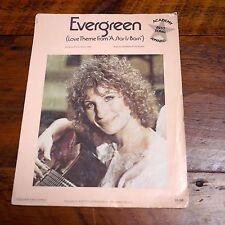 1976 Evergreen 'A Star is Born' Barbra Streisand Original Sheet Music