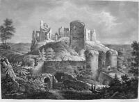 Germany FRANCONIA ALTENSTEIN VILLAGE CASTLE RUINS ~ Old 1838 Art Print Engraving