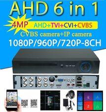 NEW 8Ch AHD 4MP 2560x1440 6in1 Hybrid CCTV DVR  for AHD/TVI/CVI/CVBS/ IP Camera