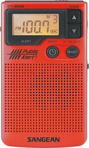 Sangean DT-400WSE RED AM/FM Digital Weather Alert Pocket Radio (Red)