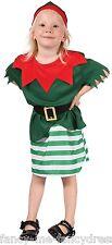 Toddler Girls Christmas Santas Elf Halloween Fancy Dress Costume Outfit 2-3 yrs