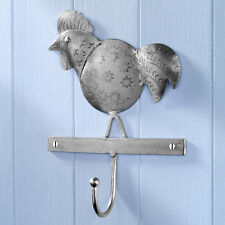 Embossed Vintage Style Metal Rooster Wall Hook Kitchen Hook