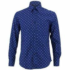 Camicie casual e maglie da uomo blu fantasia pois