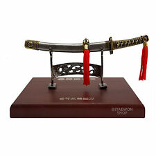 Hangukdo Korean Sword Horizontal Type Korea Souvenir Pewter Sculpture and Statue