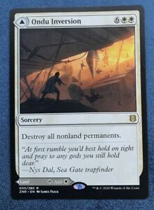 MTG Zendikar Rising Rare ONDU INVERSION NM