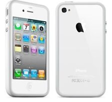 White bumper plastic case with metal buttons for iPhone 4 4S