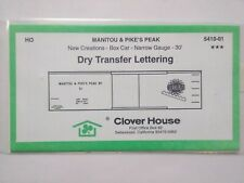 Clover House HO Scale Manitou & Pikes Peak Dry Transfer Lettering 5410-01 ~ TS