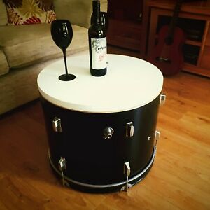 *Upcycled Bass Drum Coffee Table with internal storage.<