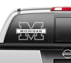 Michigan Wolverines Sticker Vinyl Decal any size any color