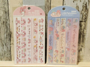 My Melody STICKERS Masking Tape Sanrio Little Twin Stars Planner Scrapbooking