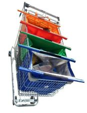Big Size - Reusable shopping bags with Cooler - Set of 4 - Shopping Trolley