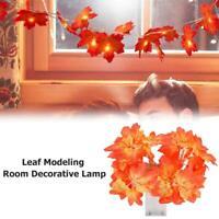 LED Maple Leaf Light Fairy String Lamp Party Wedding Christmas Decor Halloween