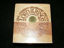 Still sealed Boxed THE LORD OF THE RINGS 9 Compact Discs in Wood Box Remastered