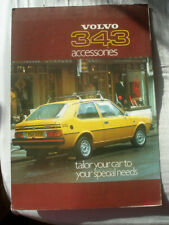 Volvo 343 Accessories range brochure c1977