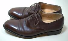 Bruno Magli Chaney lace up Oxfords Size 9 D Cap Toe Brown Leather Mens Shoes