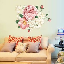 DIY Peony Flowers Vinyl Art Removable Wall Decal Sticker Mural Home Room Decor