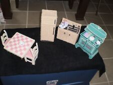 Barbie Doll, Kitchen Set, (Home Made), with pots, pans, dishes