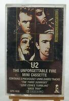 U2 - 'THE UNFORGETTABLE FIRE/MINI CASSETTE' Island Records #ISPC-1026/1985