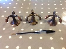 3 X Vintage Brass Triple Arm Prong Swivel Ceiling Hook Architectural Salvage