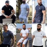 Gym King Mens Crew Neck Jersey Origin High Build Logo Designer T shirt Tee Top