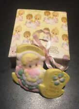 Precious Moments~ORNAMENT~Babys First Christmas~2003 Boy Or Girl  Baby In Crib