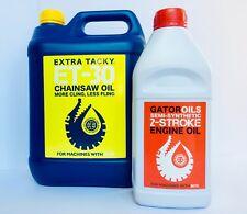 5L Chainsaw Chain Oil + 1L 2 Stroke Engine Oil for Stihl, Husqvarna etc. 🐊