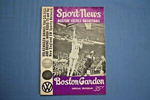 1965 Boston Celtics Program vs. San Francisco Warriors December, 11 1965 ex