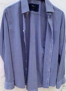Blau-weiß meliertes Herrenhemd, Venti non-Iron, Gr. 39