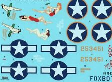"""Decals B-25C/D Mitchell """"Pin-Up Nose Art and Stencils"""" # 4 1/72 FoxBot 72-026"""