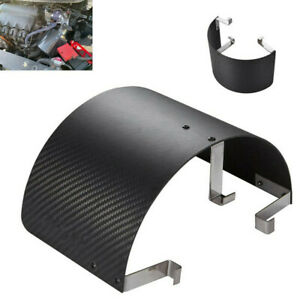 Carbon Fiber Style Stainless Steel Car Cold Air Intake Filter Cover Heat Shield
