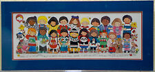 Limited Ed Print Teresa Walsh 1990 Children Wake Up Smile Share the Love Matted