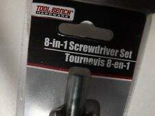 Tool Bench Screwdriver Set 8 in 1 New in Package