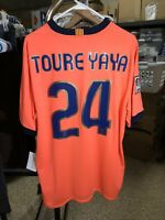 Nike XL 2009-2010 Yaya Toure Barcelona Away Shirt Camiseta Kit Jersey NWT