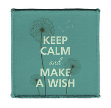 """Keep Calm MAKE A WISH DANDELION FLUFF Iron on 4x4"""" Embroidered Patch On Jacket"""