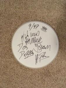 Dokken signed drumhead