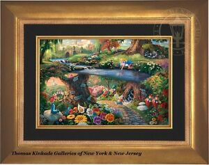 Thomas Kinkade Studios Alice in Wonderland 12 x 18 LE S/N Canvas Framed Disney