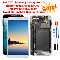 For Samsung Note 3 N9005 N900T LCD Display+Touch Screen Digitizer Assembly+Frame