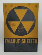 ThriftCHI ~ DOD Fallout Shelter Capacity Metal Wall Sign