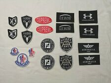 ecusson patch AVIREX FENDI NOBIS SUPREME UNDER ARMOUR FOOTKORNER AEROBATIX