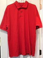 Gildan Men's Dry Blend 50/50 Jersey Knit Polo Shirt, Red, XL