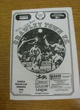 15/07/1991 Crawley Town v Crystal Palace [Friendly] (Four Pages).  We are please