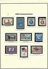 U.S. 1960 Commemorative Year Set, 35 items (4 scans) COMPLETE, mNH Fine